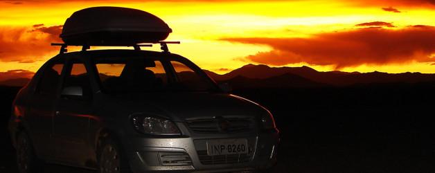 Pôr do sol na ruta exRN40