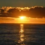 Pôr de sol no Estreito de Magalhães