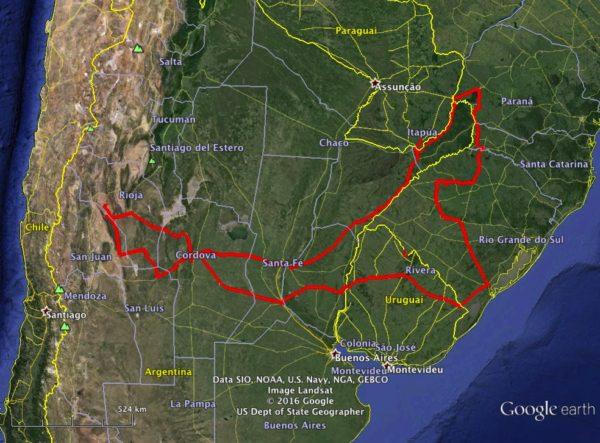 Roteiro da viagem 2011 (click na imagem para ampliar)