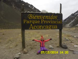 Fernadinha em Aconcagua