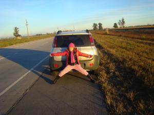 Fernandinha no carro 2