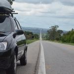 O meio de transporte dessa viagem: Chevrolet Classic 1.0 2013/2014 (atualmente com 3 mil km)