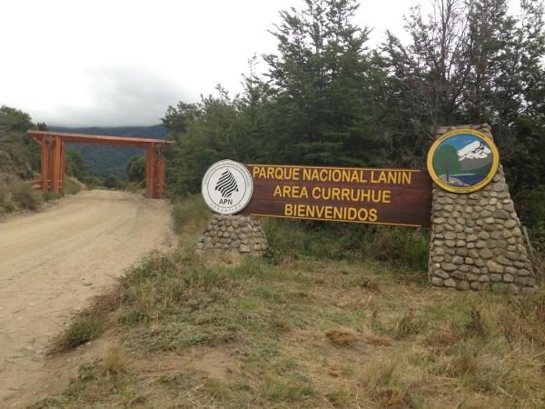 Entrada do Parque Nacional Lanin pela ruta RP 62