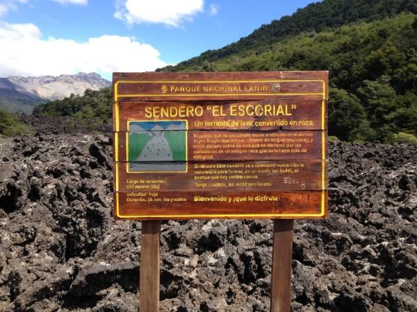 Trilha chamada El Escorial (Escorrial de Lava)