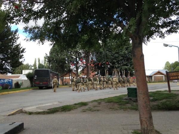 Soldados em Junin de Los Andes