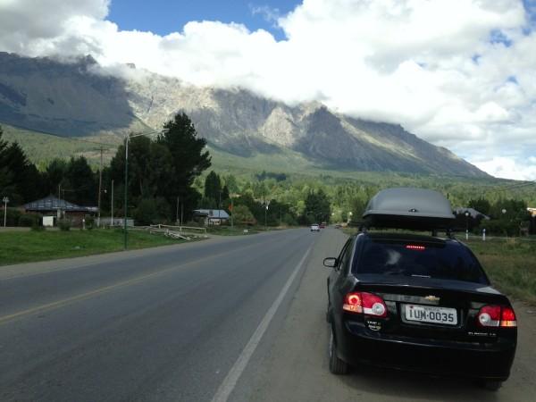 Saindo de El Bolsón pela ruta RN40