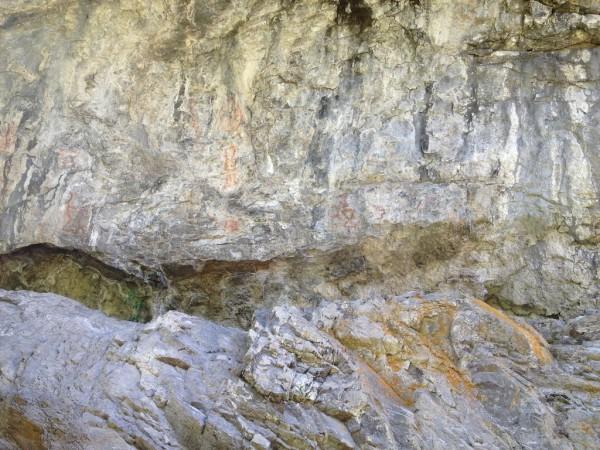 Pinturas rupestres no Parque Nacional Los Alerces