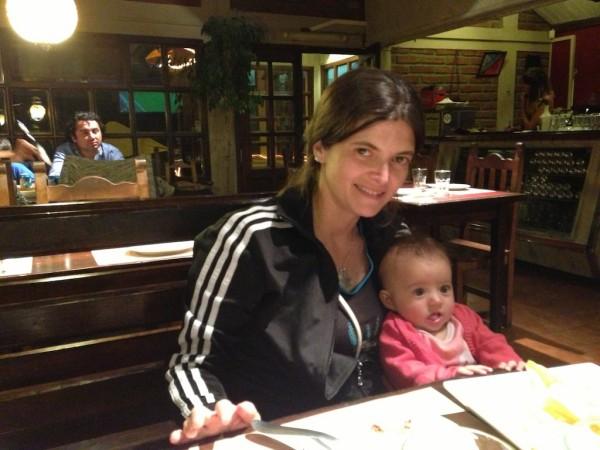 Jantando em Bariloche