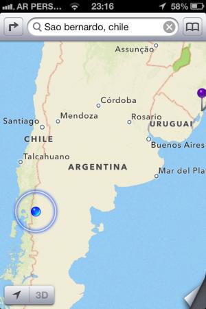 Onde estamos: Bariloche/Argentina