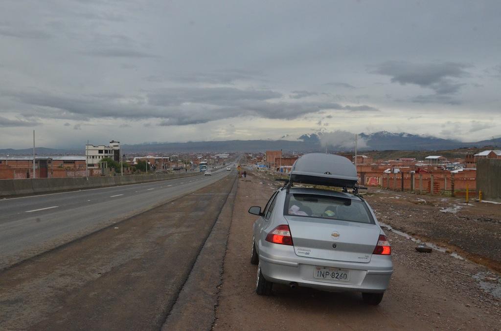 Chegando a La Paz (Bolívia)