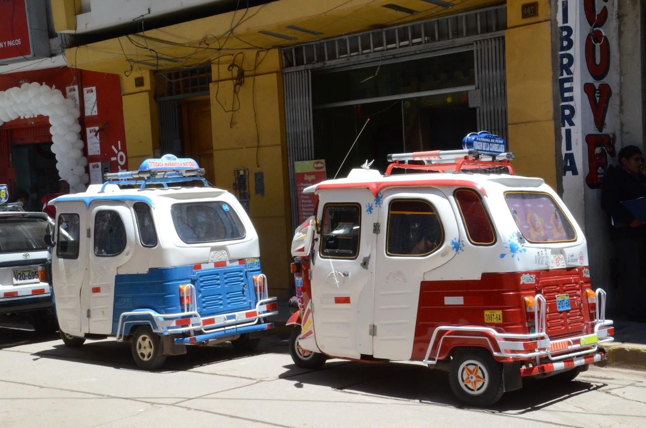 Mototaxi no Peru - existem muitos por lá