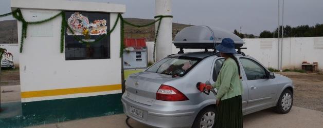 Primeiro abastecimento no Peru