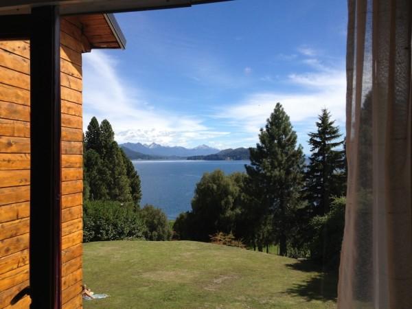 Vista do Lago Nahuel Huapi a partir do nosso quarto
