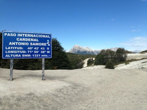 Altitude do Paso Cardenal Antonio Samoré: 1321m