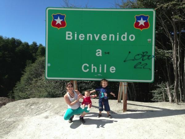 Entrando no Chile pelo Paso Cardenal Antonio