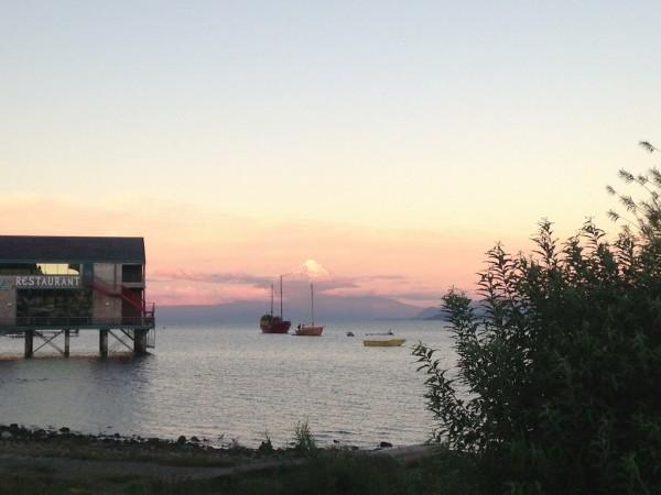 Pôr do sol no Lago Llanquihue (Puerto Varas/Chile)