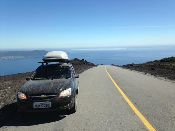 Subindo o Vulcão Osorno: de Puerto Varas a base do vulcão é tudo asfaltado