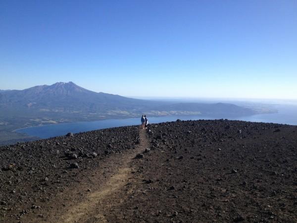 Trilha no Vulcão Osorno