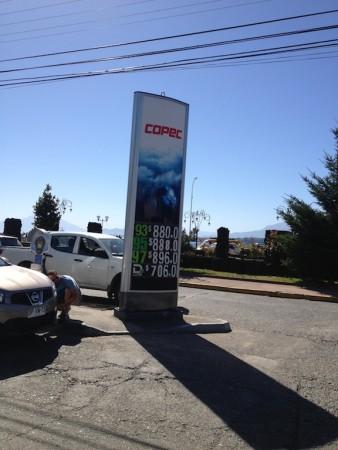 Preço do combustível no Chile