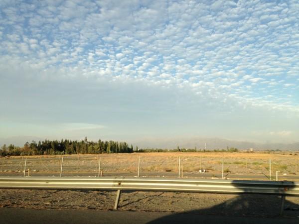 Cordilheira dos Andes vista desde a ruta 5