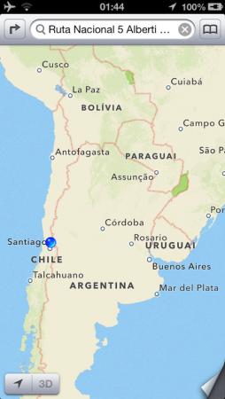 Onde estamos: Los Andes/Chile