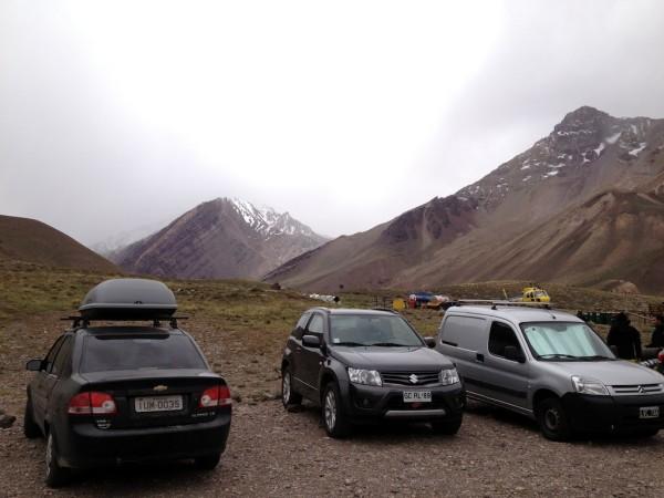 Estacionamento do Parque Provincial Aconcagua