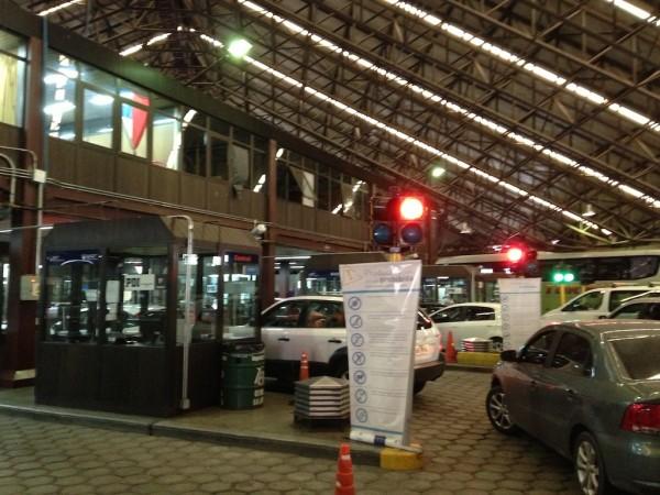 Aduana integrada do Paso Internacional Los Libertadores (já no lado Argentino)
