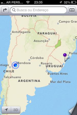 Onde estamos: Mendoza/Argentina