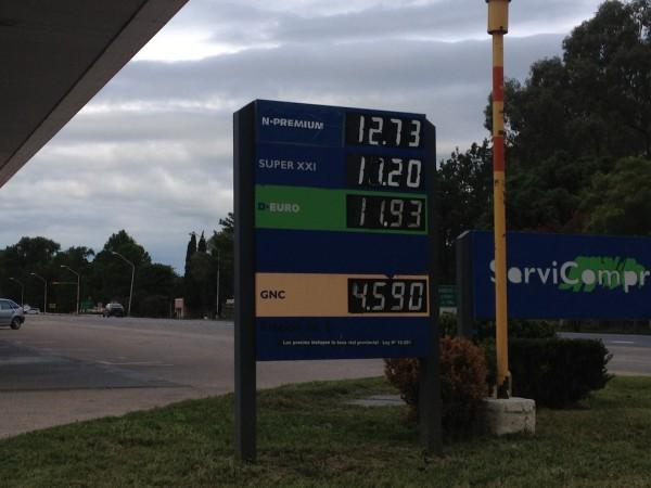 Preço do combustível na Argentina