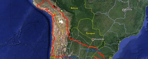 Roteiro da viagem 2015 pela Bolívia, Peru, Chile, Argentina e Uruguai