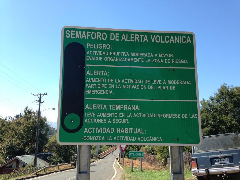 Semáforo de alerta vulcânico