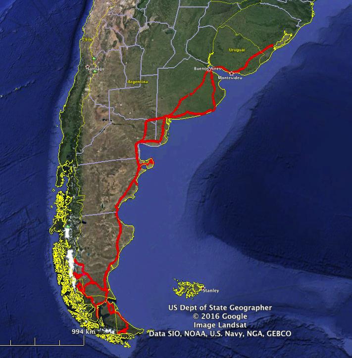 Roteiro da viagem 2012 pelo Chile, Argentina e Uruguai